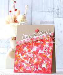 LOVE YOU! (RejoicingCrafts) Tags: flower love watercolor valentine stamping papercrafts cardmaking simonsaysstamp leavesbackgroundstamp