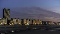 the golden lights of Ostend (Blende1.8) Tags: beach skyline strand zeiss skyscraper gold lights evening abend sony casino westvlaanderen 55mm northsea alpha oostende nordsee ostend stimmung lichter hochhaus ostende vlaanderen flandern a7ii westflandern a7m2 sonnar5518za carstenheyer ilce7m2