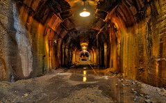 At The End Of The Tunnel - Sloss Furnace (Mike Boening Photography) Tags: old abandoned water underground al birmingham industrial pipes rusty hdr damp urbanexploring urbex blastfurnace slossfurnaces purplelabel olympusomdem1 memoriesbymike mikeboening