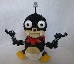 Futurama - Yogi Lord Nibbler (GVAfol) Tags: monster lego space character cape futurama mutant creature serie extraterrestrial nibbler moc mattgroening thirdeye redcape threeeyes lordnibbler gvafol