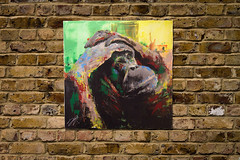 Monkey (colorprojectart) Tags: color cute art colors animal japan modern painting studio japanese monkey tokyo paint gallery artistic modernart painted exhibition pop spray textures popart painter spraypaint artworks tomoya artstudio sprayer artistonflickr
