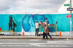 Spotify (Colossal Media) Tags: nyc blue brooklyn advertising outdoor online williamsburg colossal streetlevel outdooradvertising colossalmedia onlineservice b199 justinbieber alwayshandpaint kristamlindahl spotifyprogress