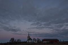 Sunrise in Hølen (Ingunn Eriksen) Tags: norway sunrise hølen vestby sky church sånerkirke akershus