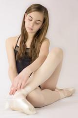 Preparation (greg.rusk) Tags: ballet white black girl shoes tights grace elegant graceful leotard elegance