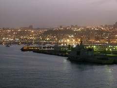 Night time Harbour (Toats Master) Tags: church grancanaria port canaryislands