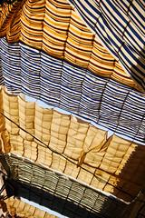 Suq (S. Hemiolia) Tags: loulé algarve curtains tende stripes strisce estate summer heat zeiss cy manualfocus vintagelenses
