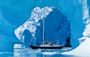 JHH_11745_Arch-Berg (Mistralis Expeditions) Tags: blue sea cold ice expedition water berg sailboat boats aluminum arch yacht framed calm glacier arctic adventure greenland fjord rhodes cutter aluminium growler sloop mccurdy brash søndre morganscloud skjoldungesund