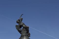 (zyntsia) Tags: madrid statue colours cross photowalk retiro angelcaido