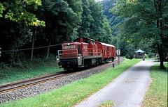 Bad Liebenzell  2008  290 633 (w. + h. brutzer) Tags: analog train germany deutschland nikon eisenbahn railway zug trains db locomotive lokomotive 290 296 294 diesellok badliebenzell eisenbahnen v90 dieselloks webru