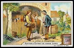 Liebig Tradecard S786 - The Letter (cigcardpix) Tags: vintage advertising ephemera liebig chromo tradecards