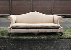 big pink (dotintime) Tags: old pink abandoned big soft couch sofa worn torn discarded davenport cushion divan dumped meganlane dotintime