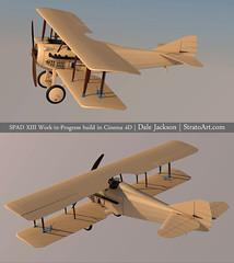 SPADXIII-WIP 104 (StratoArt) Tags: history 3d aircraft aviation military wwi cinema4d warbird biplane warplane spad xiii