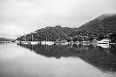 Waikawa Bay, Picton (russellstreet) Tags: newzealand blackandwhite bw cloud water southisland picton waikawabay marlboroughregion