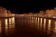 Arno in piena (notturno) - L'estensione (sele1108) Tags: italy river italia pisa tuscany arno toscana