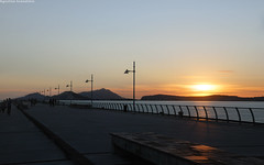 The outline (Agostino Granatiero) Tags: city travel blue autumn sunset sea sky people italy panorama seascape blur detail water colors beautiful reflections landscape gold golden pier warm long exposure italia tramonto campania shadows outdoor pano hour napoli naples colored ischia beacon procida