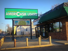 Cash loans and jerk chicken (yooperann) Tags: chicago chicken sign store time tropical jerk maywood loans chicagoist americash