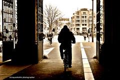 The bike (Ecinquantotto (+ 800.000 ... Grazie!!Thanks!! )) Tags: bw holland art amsterdam bike museum sepia reflex nikon shadows arte dream bn ombre dreams olanda amstel biciclette d3000 bicing nikond3000