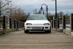 Dave Green's EG Hatch (Greater East Imports) Tags: white honda hatch fmic carbonfiber eg kseries