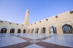Imam Muhammad ibn Abd al-Wahhab Mosque (Ashraf Khunduqji) Tags: blue sky nikon mosque abd muhammad doha qatar ibn imam d810 1424mm alwahhab