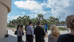 Prospective students tour the campus alongside their families. (tamucc) Tags: tour oconnor niceweather