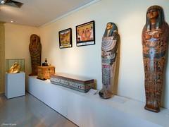 Sarcophagi and their god of dead. (Jessica.Loyola) Tags: egypt curitiba anubis sarcophagi amorc sacophagus