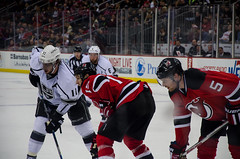 Waiting on the face-off (jgrewal_12) Tags: new cup hockey face nhl los angeles devils wayne center off kings national stanley jersey newark prudential league gretsky anze kopitar