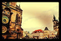 Praga Tutto in una foto (vitocarlo.castellana) Tags: square praha praga piazza oldtown orologio astronomico orologioastronomico