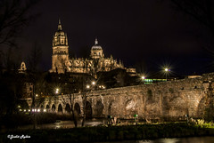 Catedral de Salamanca (judit.rubio) Tags: city bridge espaa night ro river puente lights luces noche spain nikon culture cathedrals catedral ciudad rivers puentes salamanca oldtown cultura nightpicture catedrales cascohistrico rotormes fotografanocturna nikor1855 tormesriver nikond3000 oldtownofsalamanca