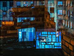 GLASS - a frame story (by Blauwe Uur) (verweile.doch) Tags: blue light eye night germany deutschland licht factory nacht kunst auge achitecture offenbach 2016 luminale verweiledoch heynefabrik blauweuur glassaframestory