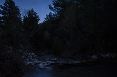 Aimlessly (davidlloret) Tags: longexposure blue trees sky espaa reflection night ro river dark landscape noche spain long exposure peace darkness bluesky paisaje calm murcia reflejo vegetation bluehour lorca oscuridad sirio aimlessly horaazul luchena