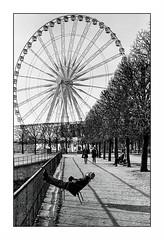 Paris (Punkrocker*) Tags: street city people paris france film garden md kodak trix olympus nb 400 tuileries om zuiko om2 5018 bwfp