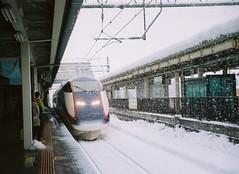oishida (Jake_Wang) Tags: travel winter snow film japan train canon railway     shinkansen  shin