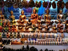 Buddha Buddha Buddha Buddha... (Peter Denton) Tags: street city town cambodia southeastasia market buddha religion culture buddhism icon siemreap statuette peterdenton