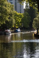 Green city (KevPBur) Tags: trees summer reflection building sunshine thames river boats concrete urbannature towerblock readingberkshire canon650d canonefs18135mmf3556isstm canonrebelt4i canonkissx6i