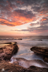 Little Bay (Seany99) Tags: seascape clouds sunrise rocks waves sydney australia nsw littlebay shorescape