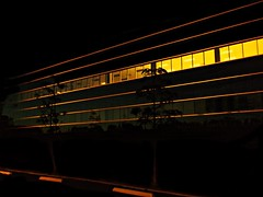 The Idea Of Independence And The Reason Why It's Austere (Isabelle de Touchet) Tags: california light abstract building lines architecture night lights fuji geometry officebuilding socal orangecounty irvine isabelledetouchet fujifinepixjx500