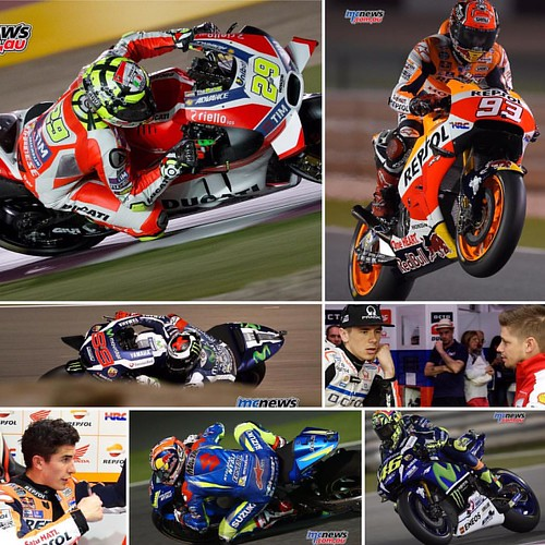 #Ducati #MotoGP #riders top seven #fastest #speed @losail_circuit overnight with @andreaiannone clocking 350.3. All times, speeds, quotes, notes and images here http://www.mcnews.com.au/motogp-2016-rnd1-friday-andrea-iannone-p1/