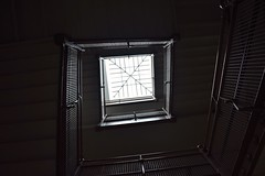 Staircase (marensr) Tags: school detail architecture skylight staircase banister trumbull