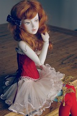 Robot in red (dev kimiko) Tags: robot bjd android modded msd narin whiteskin bimong