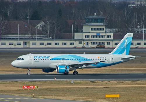 clickair Airbus A320 EC-ICU @TXL/EDDT airport