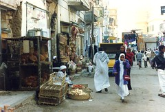 1992 - Upper Egypt - Street Scene at Aswan (bellrockman2011) Tags: egypt nile temples pyramids aswan trajan antiquities pharaohs cataracts begum agakhan