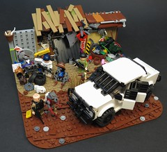 Eviction Notice (Grantmasters) Tags: lego district 9 wip ute prawn hilux mnu