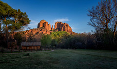 Cathedral Rock (John A. McCrae) Tags: sunset arizona easter landscape cabin unitedstates sedona redrock cathedralrock redrockcrossing crescentmoonranchpark