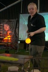 Glass Blowing Demonstration, Hyde End Craft Fair (tortipede) Tags: zoom sony glassblowing 1870 fromraw a500 rawtherapee emglass hydeendcraftfair
