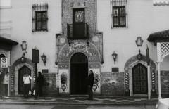 the entrance (J.Davis Photography) Tags: city white black film tampa florida retro d76 developer plus hp5 ybor ilsford