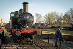 The Auto Tank and the Driver. (Jack Haynes Photography) Tags: heritage train photography events centre great railway steam western timeline british locomotive didcot oxfordshire charter preservation 1450