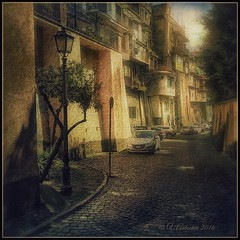 Patios Castel Gandolfo. (odinvadim) Tags: travel italy rome evening artist textures textured iphoneart iphoneography iphoneonly snapseed painterlymobileart