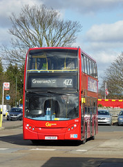 GAL E55 - LX56EUC - BX BEXLEYHEATH BUS GARAGE - MON 7TH MAR 2016 (Bexleybus) Tags: bus london ahead kent garage go route e55 tfl bexleyheath 422 bx goahead lx56euc