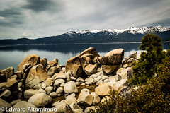 The Rocks and the Sierras (EdwardA57) Tags: lake mountains beauty landscape nikon rocks tahoe laketahoe serenity sierranevadas sandharbor d3200
