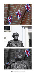 HOW IT WAS DONE..... (mark_rutley) Tags: statue photoshop flag hampshire flags beforeandafter tutorial livingstatue lymington sirwinstonchurchill howitwasdone livingstatueunion